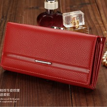 Ladies Women Wallets  Purses Long Wallet Woman Elegant Female Red Women's Wallets Leather Wallet Purse K201