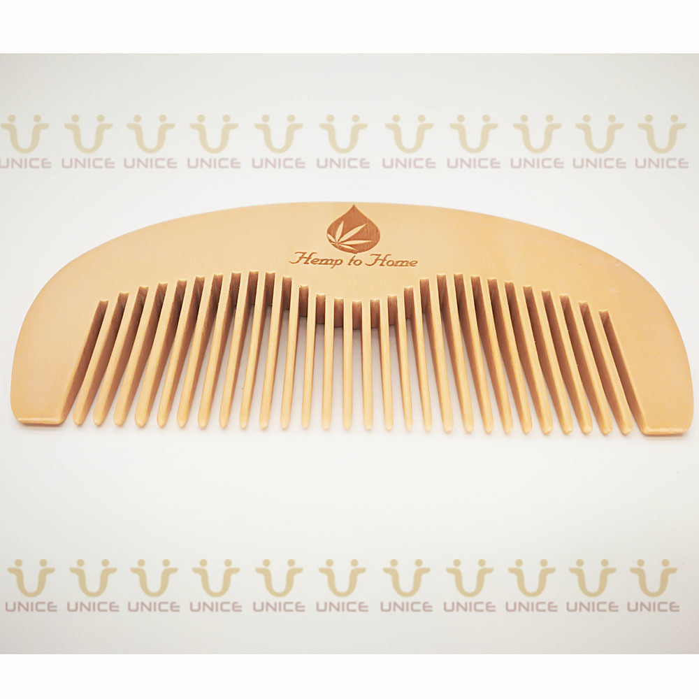 100pcs/lot Your LOGO Customized Private Label Combs Hair Beard Wood Comb for Men & Women for Barber Shop Retail Case 35