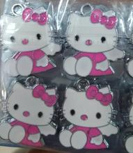 With flowers Classic 50 Pcs Cartoon hello kitty Charm Pendants DIY Jewelry Making  Free Shipping D-Z042