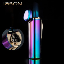 ( Lighter No gas)JOBON brand metal gas lighter,3-jet windproof refillable lighters,Cigarette lighter