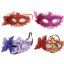 New Evening Performances Luminous Mask New Feather Butterfly Gold Mask Halloween Prom Mask Carnival Party Costume Dance Mask 7D
