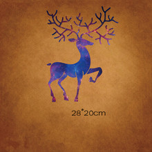 iron on For Clothing Color Mr Deer Patch Sika deer trend T shirt adult heat transfer pattern Offset DIY clothing patch paste