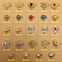 1000PCS/Lot 2016 new japanese nail art stud with one stone handmade nail art cheap small nail arts for small nails ML1700-1747