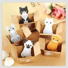 5 pcs/lot Mini Cute Cartoon Kawaii Cats and Dogs Memo pad Box Sticky Notes for Kids Gifts Post It Note 01801(China)