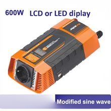600W LCD or LED display smart power inverter 600Watt dc to ac 12V 24V to 220V 230V high efficiency car power inverters 50/60HZ