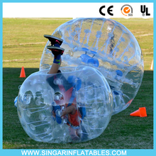 Free shipping 1.0mm PVC 1.8m diameter inflatable soccer ball,zorb ballz,bubble football for big heavy players(China)