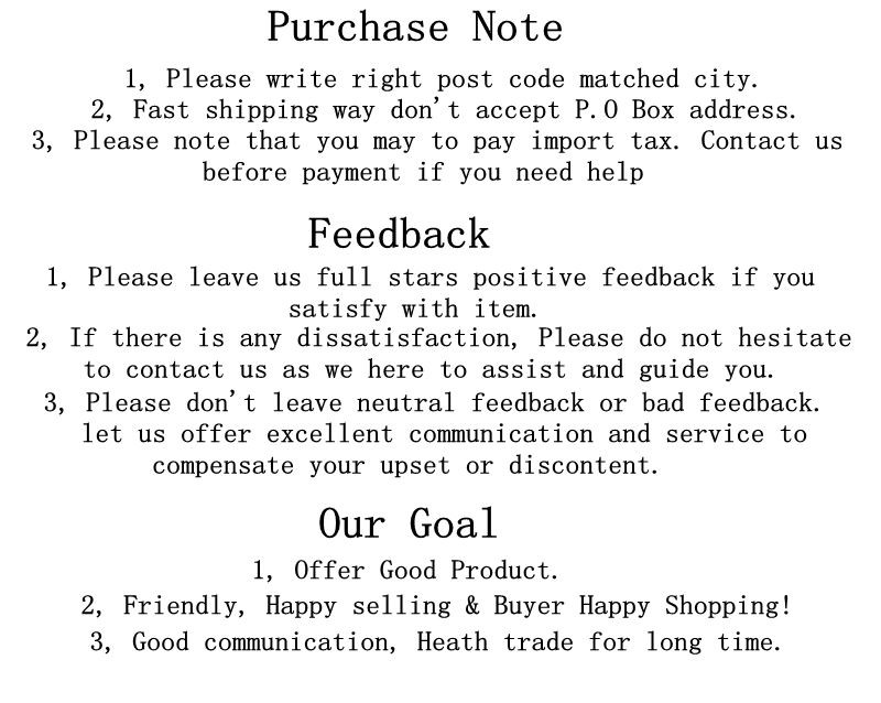 6 purchase guidelines for feedback