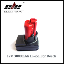 New Arrival 12V 3000mAh 3.0AH Li-ion High Capacity Rechargeable Power Tool Battery For Bosch BAT411  2 607 336 996