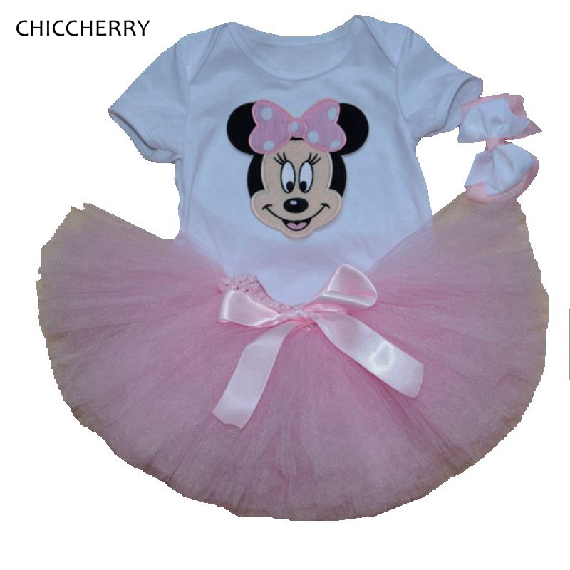 Pink Minnie Baby Girl Lace Skirt Cartoon Newborn Tutu Sets Headband Infant Bodysuit Party Tutus Vetement Bebe Birthday Outfits<br><br>Aliexpress
