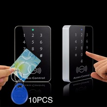 Rfid Door Access Control System 125KHz RFID Card Password Access Controller Keypad Machine Controller Keypad +10 Key Fobs
