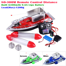 Upgrade Version 80-300M Remote Control Boat RC Fishing Boat Built-in 5200mAh Lipo Battery Red/Blue/Green 3 Colors Available(China)