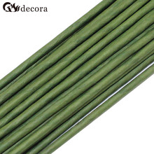 3# 3mm 40cm Green Paper covered wire artificial flower stick silk flower accessory(50pcs/lot)