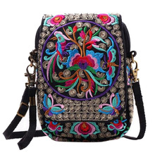 Buy Boho Bag Ethnic Embroidery Shoulder Bags Women Handbag Summer Flowers Travel Ladies Tote Shoulder Messenger Beach Bags Female for $7.80 in AliExpress store