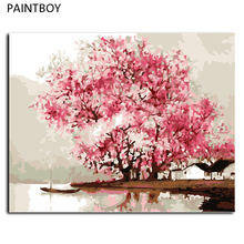 Oil Painting Frameless Picture Painting By Numbers Abstract Landscape DIY Digital Canvas Oil Painting Wall Art G427