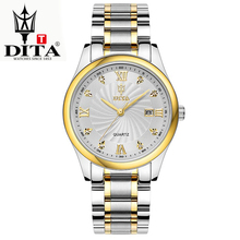 DITA Mens Fashion Business Wristwatches Quartz Casual Classic Unisex Watch Stainless steel watchband New free shipping crystal(China)