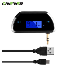 Wireless Radio FM Transmitter LCD Diaplay Broadcasting 3.5mm Port for Car Mobile iPhone iPod Android Samsung MP3 Player Tablet