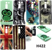 Retro tape Cartoon Owl USA UK flag ShockProof soft TPU Silicon Case Cover For LG Spirit 4G LTE H420 H422 H440N C70 with pen