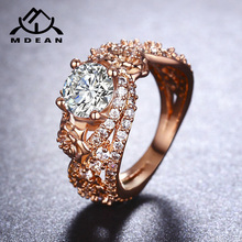 Buy MDEAN Rose Gold Color Rings Women Wedding Ring AAA Zircon Jewelry Bague Engagement Fashion Accessories szie 6 7 8 9 10MSR414 for $2.99 in AliExpress store