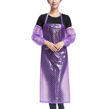 Kitchen Cooking Apron Men Women Waterproof Bib Anti-Oil Apron with Oversleeve Chef Work Wear Uniform Apron