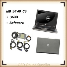 2017 Best for Mercedes Benz Diagnosis MB Star C3 Multiplexer Scanner Tool + XENTRY Software HDD + d630 Laptop with Free Shipping