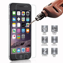 2.5D 9H Tempered Glass For iPhone 7 4 4S 5 5S 5C SE 6 6S 7 Plus For iPod 5 6 Screen Protector Toughened Phone Cases Cover Film