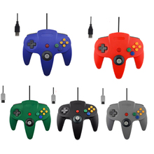 Wired USB Controller For Nintend N64 Joystick Games Wired Gamepad Joypad For Gamecube Controle For N64 PC Gamepad(China)