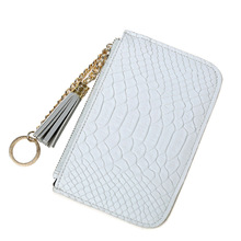 Leather Coin Purse Women Small Wallet Card Holder Zipper Key Ring Money Bags Coin Pocket Wallets Key Holder Mini Zipper Pouch(China)