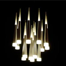 Modern Ceiling Lights Fashion Luxury Home Dining Living Room Stairs Decoration LED Ceiling lamp Cone tube Spiral Hanging light(China)