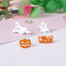 Cute Cartoon Funny Halloween Specter Ghost Pumpkin Brooch Pins Jeans Bag Decoration Women Fashion Jewelry Accessories