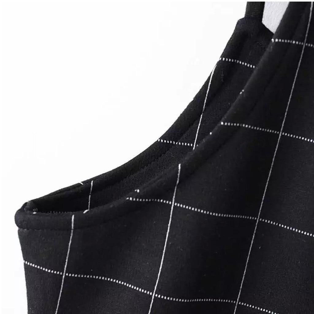 FREE OSTRICH Women Fashion Sleeveless Plaid Backless Strap Mini A-shaped Strapless Ladies Casual Sexy Lady Dress Girls 717
