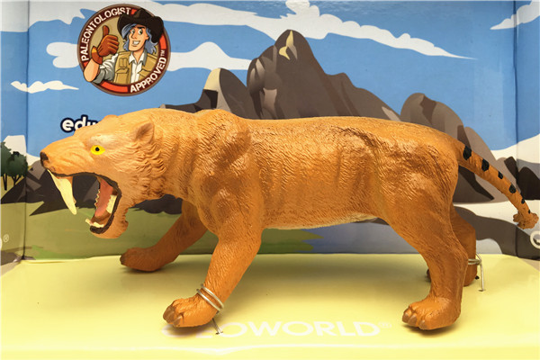 Ancient creatures Smilodon Sabretooth Classic Toys For Boys Children Animal Model CL1633K<br><br>Aliexpress
