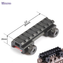"MIZUGIWA Hunting Tactical See-Thru Flat-Top 1/2"" Riser Base Picatinny Weaver Rail 20mm Scope Mount Adapter Rifle Gun Airgun(China)"