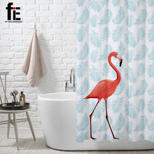 FIE bath curtain bathroom curtain Flamingo shower curtain(China)