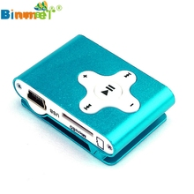 Binmer Hot Selling Mini Clip Metal USB MP3 Player Support 32GB Micro SD TF Card Slot Digital Professional Drop Shipping