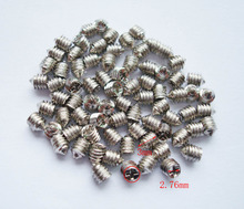 30 pcs 2.76*3mm silver Luggage screws,box buckle screws,belt Screws,bag buckle accessoires,bag fasteners,Auto button buckle