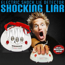 Polygraph Liar Electric Shock Lie Detector Game Toy LED's Fact or Porky