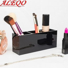 Hot sale! 2017 New Acrylic 3 grid famous brand cosmetic box beauty makeup organizer bag holder luxury toiletry container case