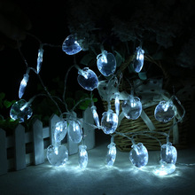 20 LED transparent apple shape battery box light string Christmas day indoor and outdoor decoration(China)