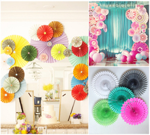 10pcs/Lot 10 Inch 25cm Tissue Paper Fan Decoration Kids Birthday Party Supplies Wedding Background Decoration Holiday(China)