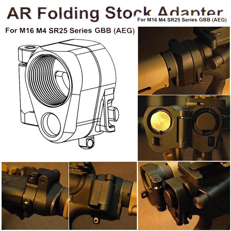 AR Folding Stock Adapter For M16M4 SR25 Series GBB(AEG) RL2-0042-10