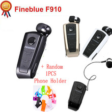 FineBlue F910 Wireless Bluetooth Earphone Auriculares Retractable Remind Vibration Alert Wear Clip Hands Free Driver Earphones(China)