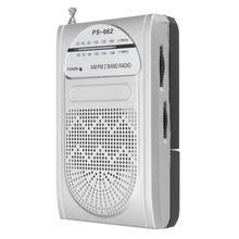 Hot Sale Radio FM AM Receiver Protable World Receiver With Power Indicator Radio Telescopic External Antenna With Cllip