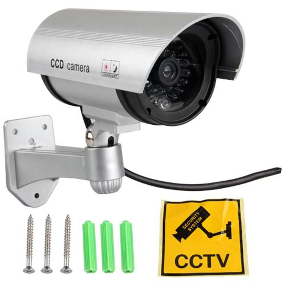 Fake Dummy CCTV Camera Imitation Home Security Surveillance Camera Red Flashing LED Light Indoors/Outdoors Waterproof<br><br>Aliexpress
