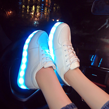 // USB illuminated krasovki luminous sneakers glowing kids shoes children with led light up sneakers for girls&boys ty00(China)