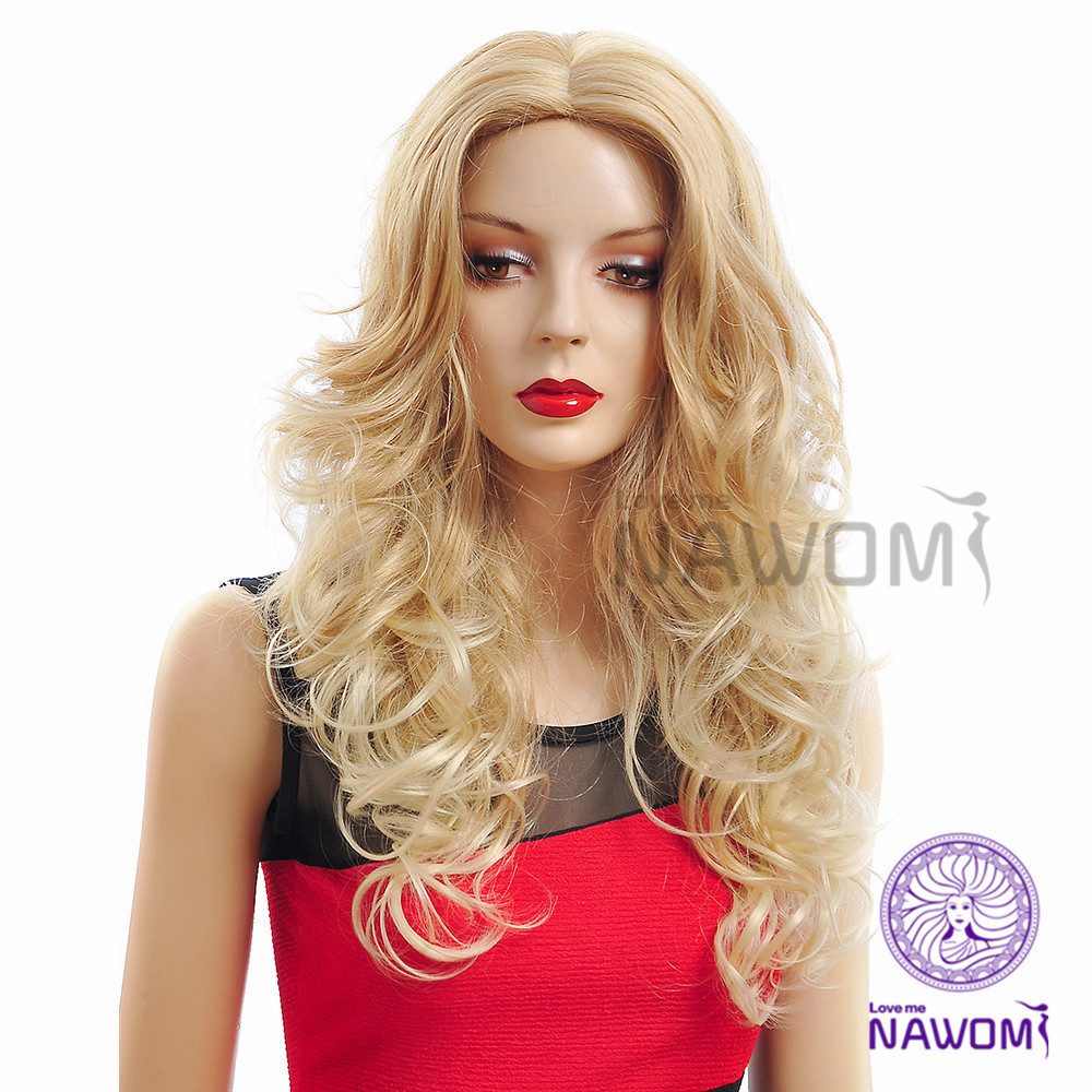 New 2014 Free Shipping Dark Brown Color Long Wigs For Women Natural Looking Realistic Wigs<br><br>Aliexpress