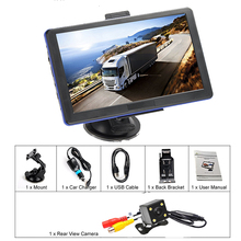 "7 "" 8GB Capacitive Touchscreen Portable Car GPS Navigation Bluetooth Free Lifetime Map Updates + Rearview Backup Camera(China)"