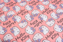 140*100cm hello kitty Plain Fabric Baby Diy Handmade Craft Bedding Home Cloth Purse Quilt clothing making fabric DIY fabric