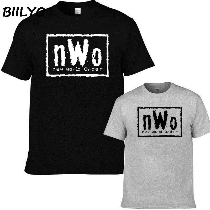 NWo - Black T-Shirt New World Order N.W.o Hulk Razor Nash WCW Sizes S-2XL Different Colours High Quality T Shirt(China)