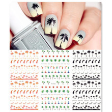 Coconut Trees Nail Water Decals Summer Style Transfer Stickers 1 sheet Anchors Nail Art Stickers #21567