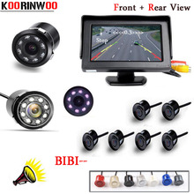Buy KOORINWOO Auto Parktronic Reverse Radars Car parking sensors 6 Video System Beep Alarm Parking Camera Detector Digital Monitor for $70.99 in AliExpress store